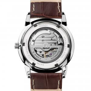 Ingersoll I00501 Mens Watch The New Haven  Automatic Stainless Steel Polished Dial Silver Strap Strap  Color  Brown